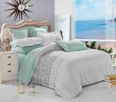 com gray duvet cover set reversible with grey teal turquoise soft microfiber bedding with zipper closure and corner ties 3pcs queen size home