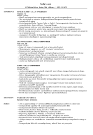 Supply Chain Resumes Supply Chain Specialist Resume Samples Velvet Jobs 18
