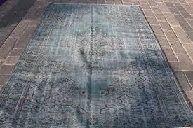 overdyed turkish rug from oushak 164 x 263 cm