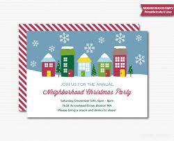 printable christmas invitations neighborhood party invitation printable christmas open house