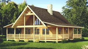 log cabin house plans one story with loft floor wrap around porch arresting