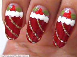 Simple Christmas Nail Art Designs Green Red Nail Art For Christmas ...
