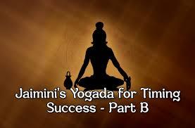 Jaimini Astrology Chart Free Jaiminis Yogada For Timing Success Part B Vedic