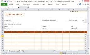 Free Expense Report Form Template For Excel Cool Free Printable Expense Report Forms