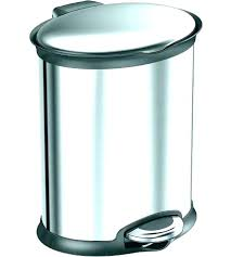 large garbage cans with attached lids metal trash can lid gray round vented small white
