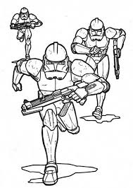 Small Picture The Clone Troopers Pursuing in Star Wars Coloring Page Download