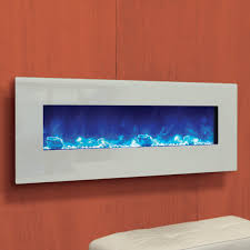 amantii wall mount flush mount 48 inch electric fireplace with white glass surround