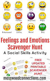 Feelings and Emotions Scavenger Hunt: A Social Skills Activity ...