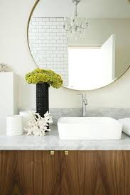 round mirror with strap marble and subway tile circle leather strap mirror nz