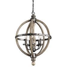 wood chandelier lighting. Kichler 43324DAG Evan Chandelier 5-Light, Distressed Antique Gray - Ceiling Pendant Fixtures Amazon.com Wood Lighting