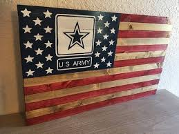 rustic american wooden with army logo
