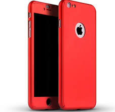 iphone 6 plus case. 360 degree full body protection case red for iphone 6 plus / 6s iphone