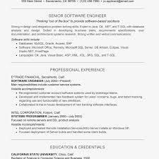 Software Engineer Resume Template Word Experienced Free Download