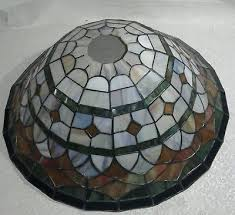 vintage antique stained glass chandelier lamp shade