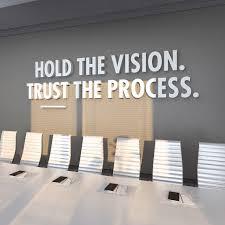 3D Office Design Gorgeous Trust The Process Office Design 48D Office Decor Office Etsy