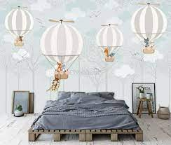 Hot Air Balloons with Animals Wallpaper ...