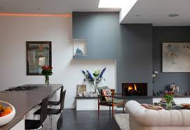 Living Room And Kitchen Paint Colors Grey Walls Living Room Kitchen Carameloffers