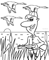 Free Hunting Coloring Pages With Printable
