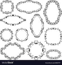 fl design filigree frame elements vector image