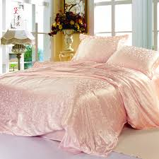 pink gold and white bedding