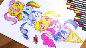 my little pony how to draw twilight sparkle pinkie pie applejack rarity fluttershy rainbow dash