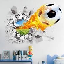 11.11День ... - soccer wall с бесплатной доставкой на AliExpress