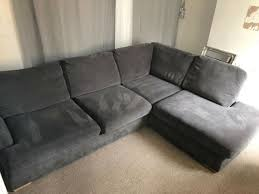 dfs corner sofa grey in barry vale