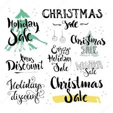 Christmas And Holiday Sale Signs Stock Vector Favetelinguis199