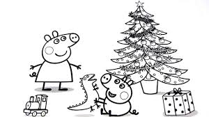 Small Picture Peppa Pig Christmas Coloring Pages For Kids Video For Kids YouTube