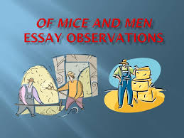 of mice and men essay tips