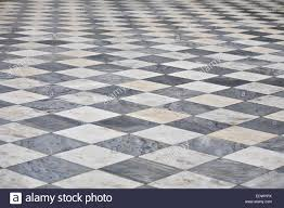 Floor Pattern Delectable Marble Black And White Square Floor Pattern Perspective View Stock