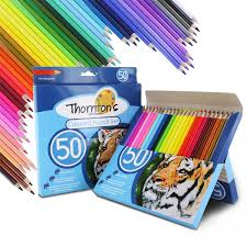 thornton s art supply premier soft core 50 piece artist grade colored pencils 638865977344 ebay
