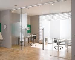 interior frameless glass door. Modern Interior Glass Doors Looks Elegant : Stunning Sliding Design Frameless With Office Furniture Also Swivel Chairs And Desk Door S