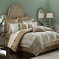 Fascinating California King Bed Comforter Sets With Comfy Divan Bed And  Appealing Headboard And Round Mirror