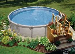 Simple Backyard Above Ground Pool Designs Landscaping Pictures Your With On Inspiration Decorating