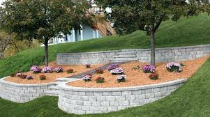 build a retaining wall on a slope how to build retaining walls on slope building rock