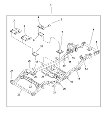 52058813ac genuine jeep frame chassis