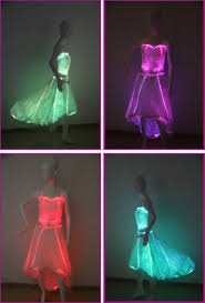 Wedding Dress With Lights Fiber Optic Clothing Luminous Light Short Front Wedding Dress Buy High Quality Very Long Tail Wedding Dress Wedding Dress With Long Tail Short Front