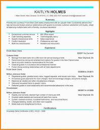 Desk Clerk Resumes Front Desk Clerk Resume Duties Www Sailafrica Org