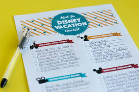Make The Most Of Your Family Disney Vacation + Printable Checklist ...