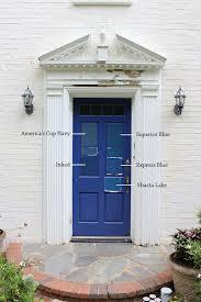 blue front door8 Paint Colors For A Blue Front Door  Front doors Doors and