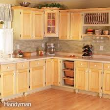 Cutting Kitchen Cabinets Best Cabinet Facelift The Family Handyman