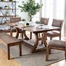 rustic dining room tables. Furniture Of America Matthias Industrial Rustic Pine Dining Table Room Tables O