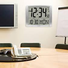digital office wall clocks digital. Ideas, Extra Large Atomic Wall Clocks La Crosse Technology 20 Digital Office