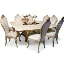 AICO Michael Amini Platine De Royale  Square Dining Table Set - Aico dining room set