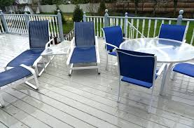 blue and white patio furniture cushions
