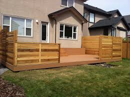 Deck Privacy Wall Designs Designs Calgary Composite Azek Deck Cedar Privacy Walls