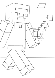 Minecraft Coloring Pages Of Steve Minecraft Coloring