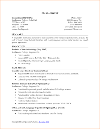 9 College Student Resume Examples Little Experience Basic Job