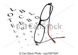 Reading Chart Optometry Vision Testing Chart And Glasses